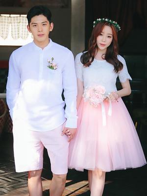 핑크빛 웨딩-커플