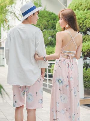 우리들만의 추억 허니문 커플룩-핑크