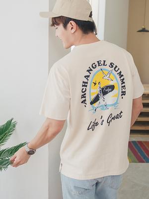 서핑 티셔츠-남자