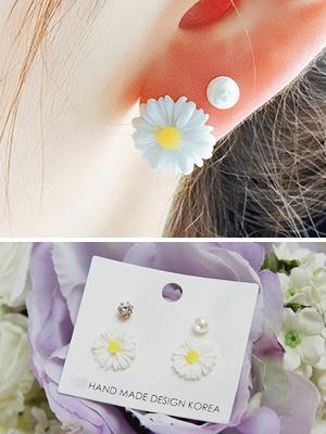 계란꽃 귀걸이