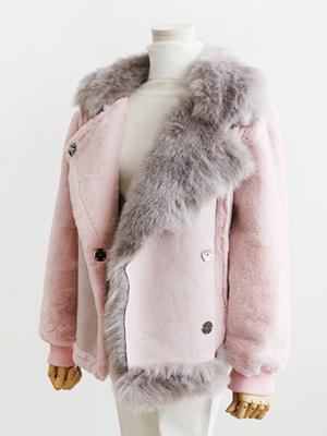 하얀진심-스웨이드 무스탕 자켓