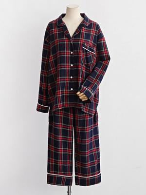 좋아하는잠옷 세트-체크패턴 슬립웨어