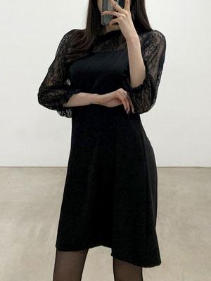 프라이데이-플라워 레이스 원피스
