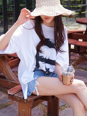 프리즌박스 티셔츠-빅 사이즈 프린트 T