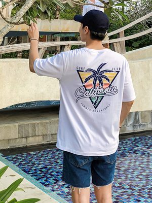 야자수 캘리포니아 티셔츠