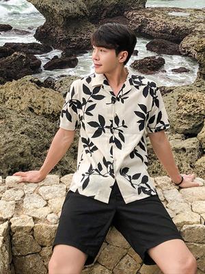 마로니에 하와이안 린넨셔츠