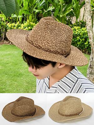 투톤 꽈배기 카우보이 모자