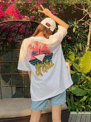 스윗 칵테일 티셔츠-화이트[남녀공용]