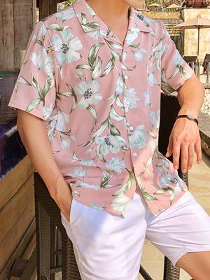 샤프란 하와이안 셔츠