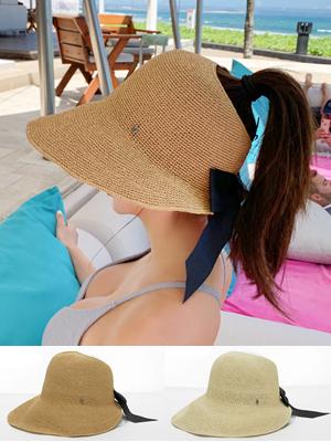 포니테일 버킷햇 모자