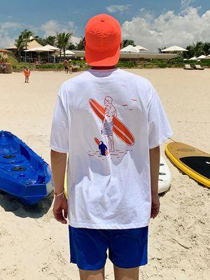 마이 프렌드 서핑맨 티셔츠-화이트