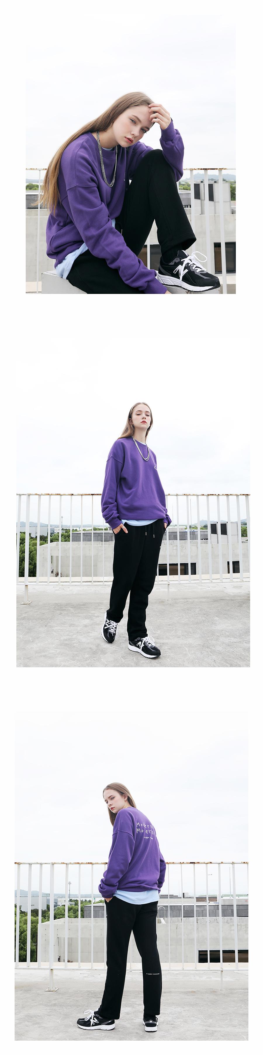 [모더먼트] Unisex HANDWRITING MTM(purple)