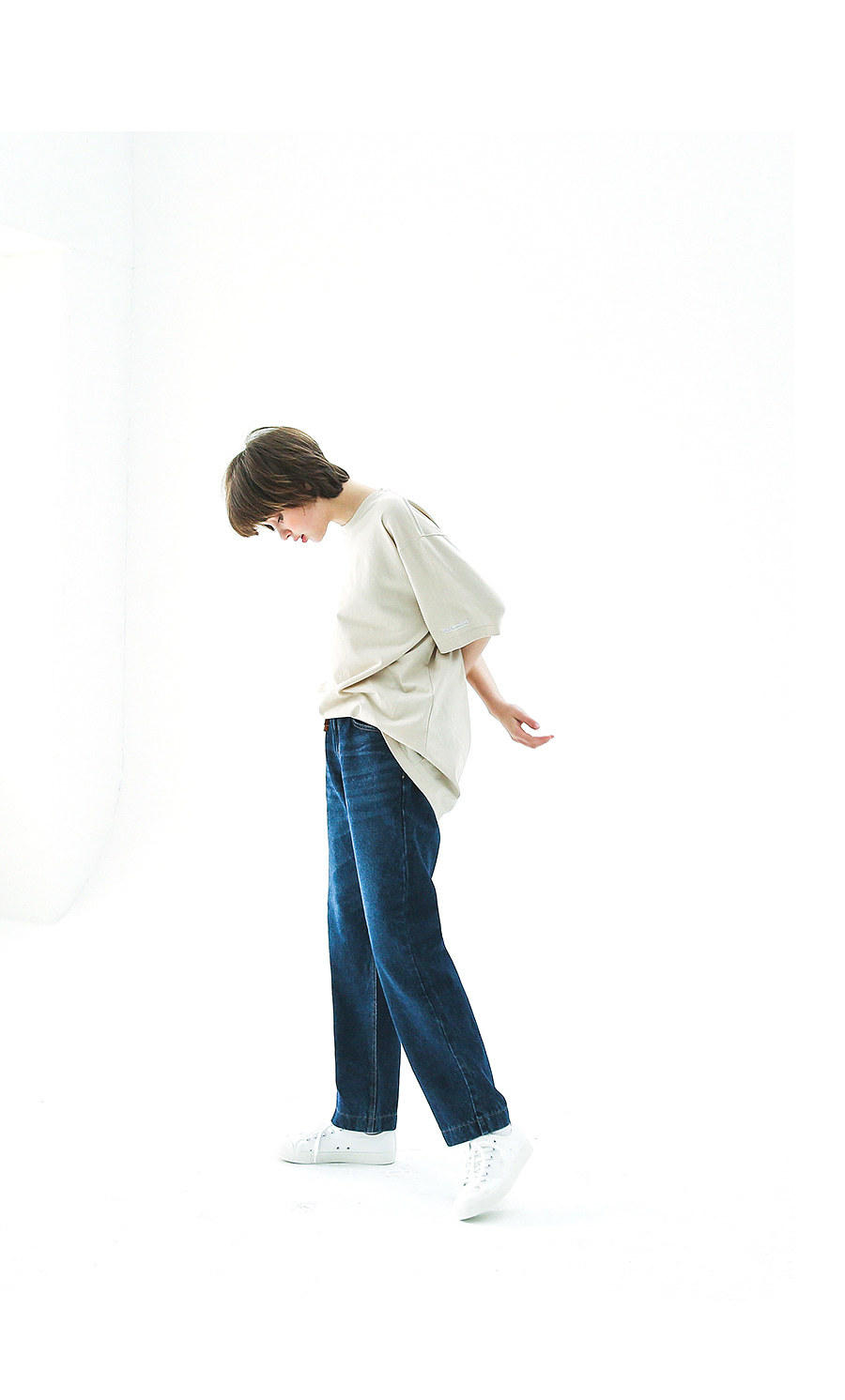 [모더먼트] Regular banding pants(light blue)