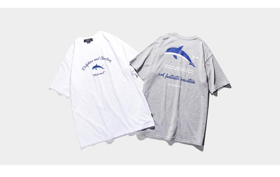 (단독가)모더먼트 Dolphin Half-tee(gray)