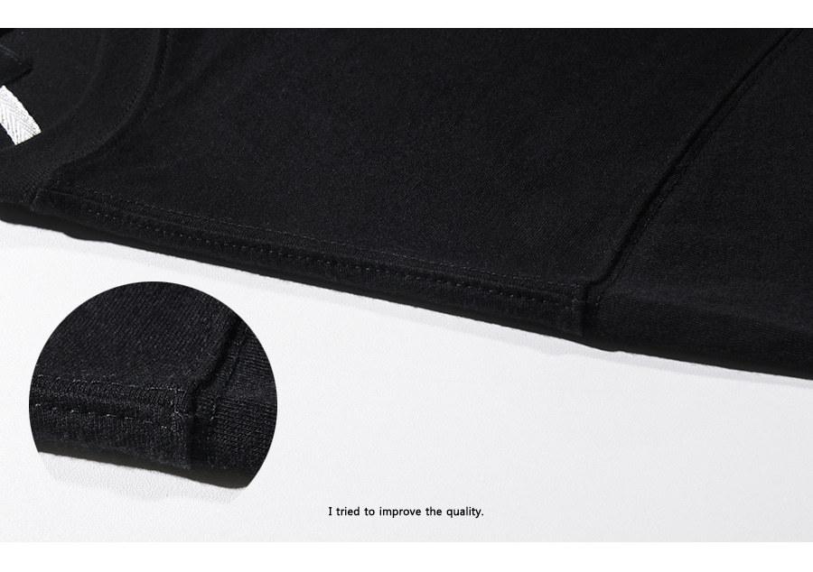 [모더먼트] Minimal half-tee(black)