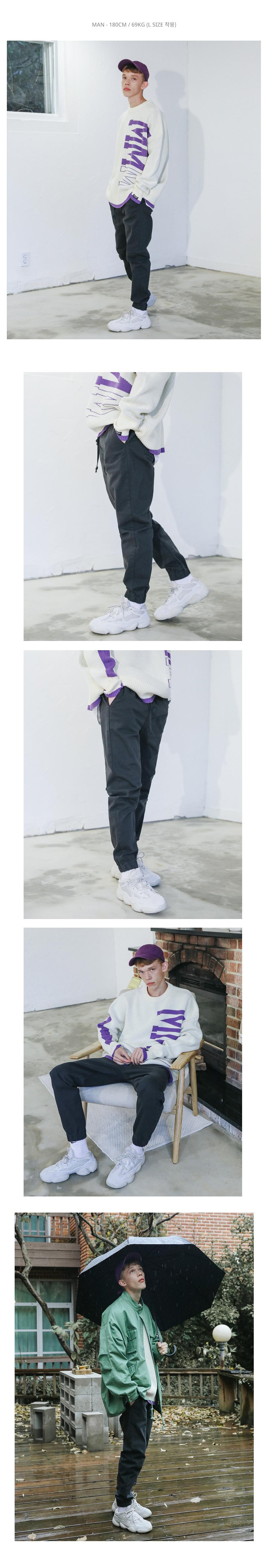 [UNISEX] 오디너리 코튼 조거 팬츠 (블랙)