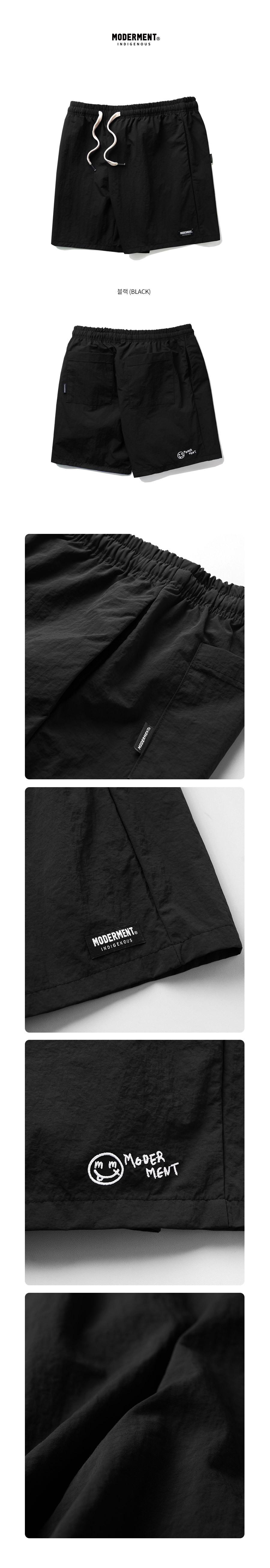 [UNISEX] 유틸리티 하프팬츠 (블랙)