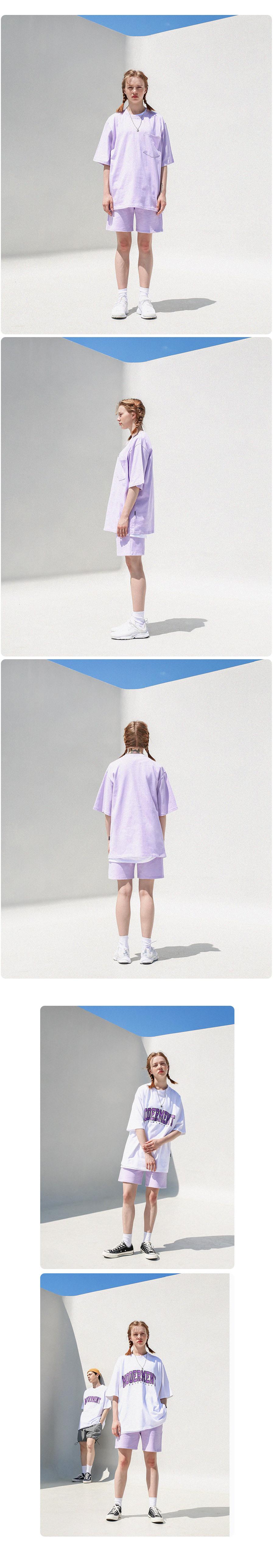 [UNISEX] 스웨트 쇼츠 반바지 (라이트퍼플)