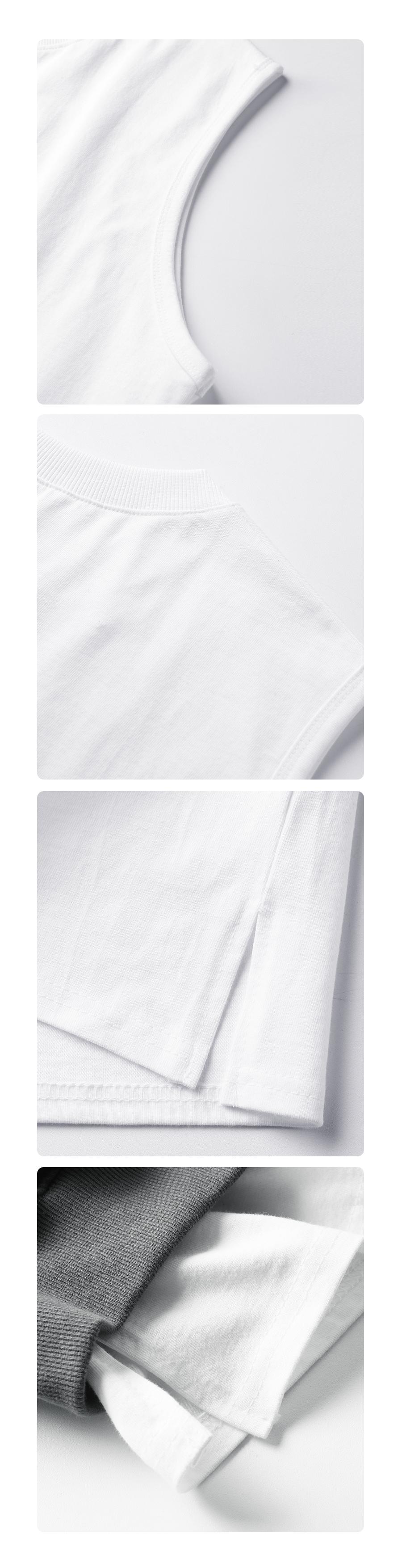 [UNISEX] 레이어드 오버핏 슬리브리스 나시 (화이트)