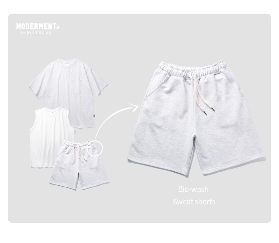 [세트] 포켓 오버핏 반팔 + 스웨트 쇼츠 셋업 (4컬러)