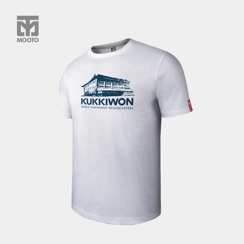 [무토]스타일 라운드 국기원 HQ 티셔츠_화이트