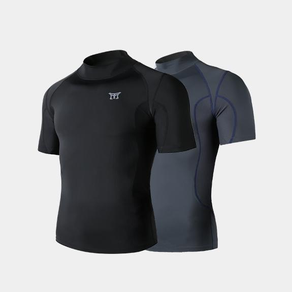 [무토]래쉬가드 터틀넥 셔츠