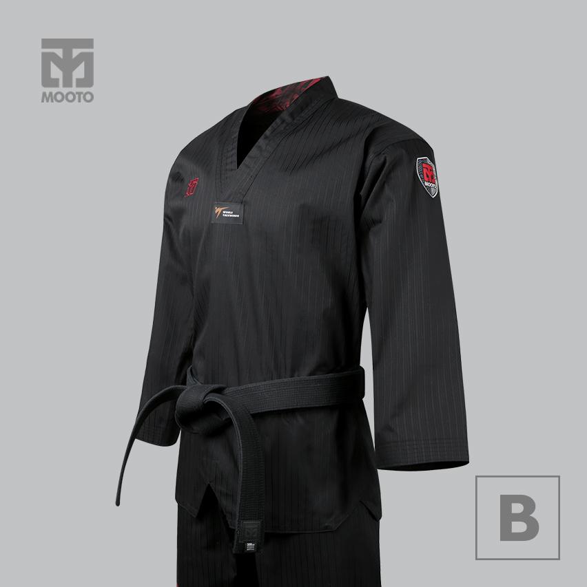 [무토] 베이직4.5 칼라도복 블랙(검은깃)