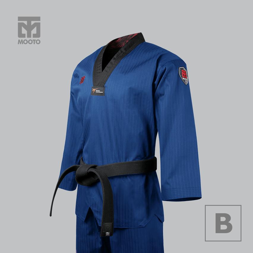 [무토] 베이직 4.5 컬러도복 블루_검정깃(겨루기 단체복)