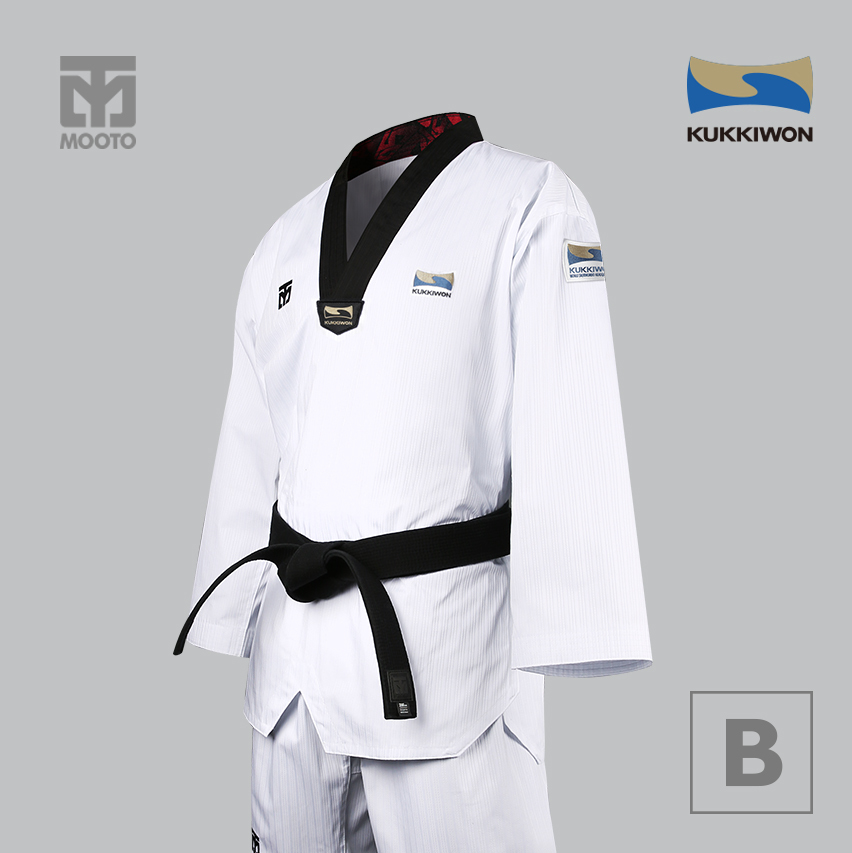 [무토] 베이직 4.5 국기원도복 (검정깃)
