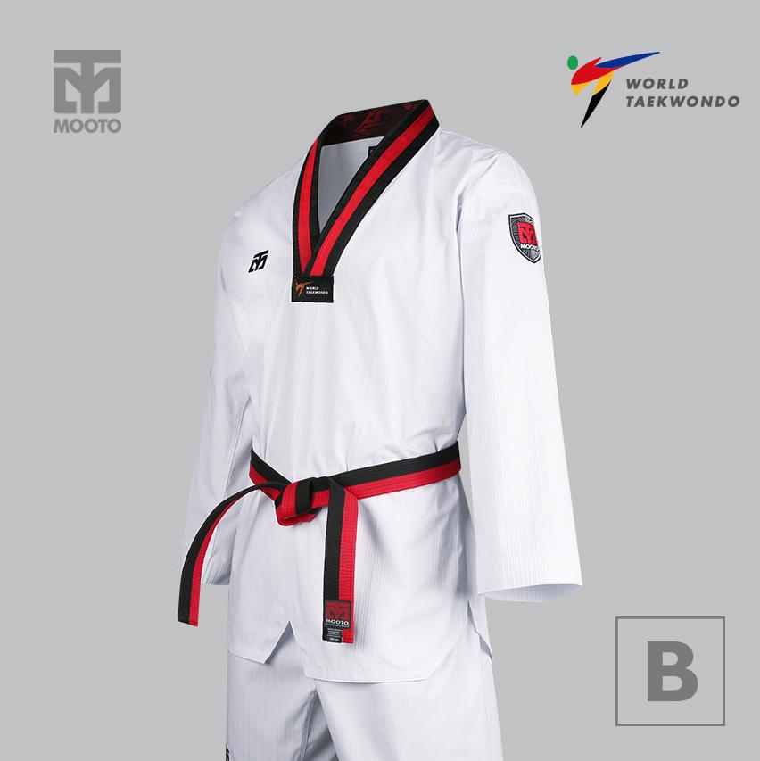 [무토] 베이직4.5 3품도복(검정깃 빨간줄)