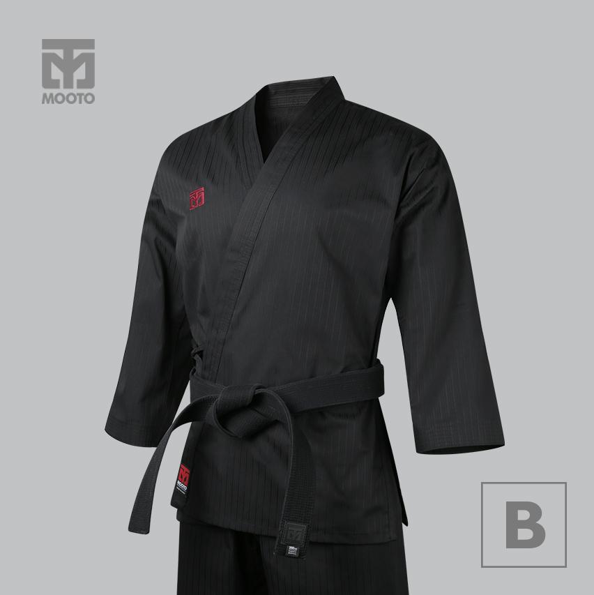 [무토] 베이직 4 오픈도복 블랙_검정깃