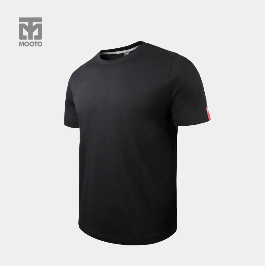 [반바지 선택가능] 스타일 라운드 티셔츠_블랙