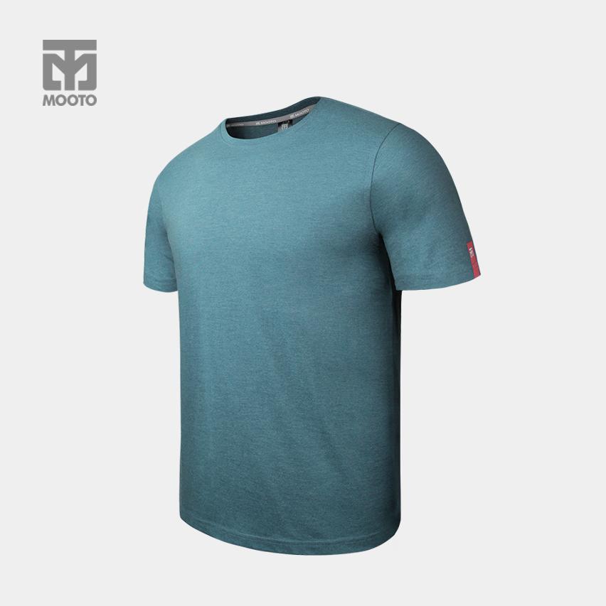 [반바지 선택가능] 스타일 라운드 티셔츠_피콕블루