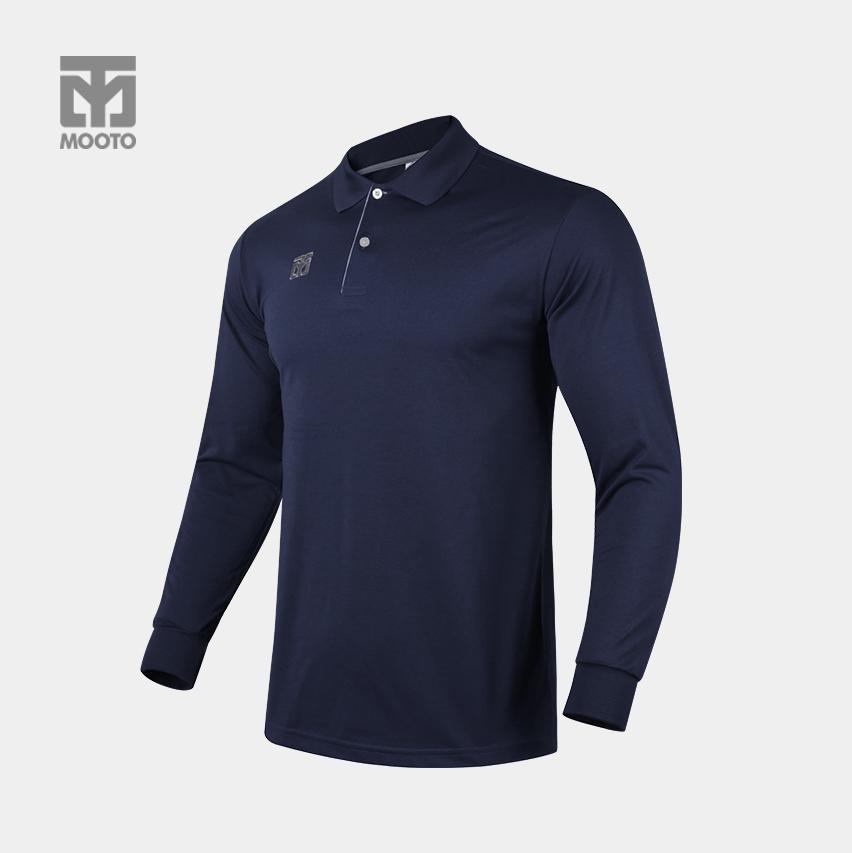 [무토]클래식 PK티셔츠 긴팔/다크네이비