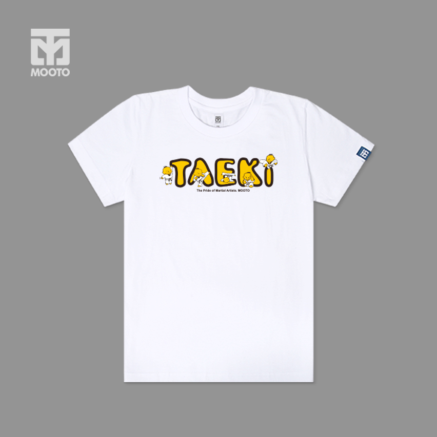 [무토]TAEKI로고 반팔 면티셔츠_화이트