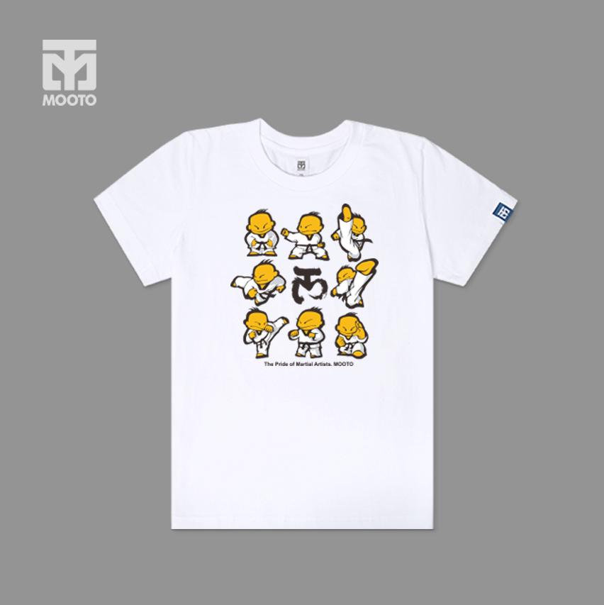 [무토] TAEKI 모션 반팔 면티셔츠_화이트