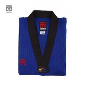 [무토] 베이직 4 컬러도복 블루_검정깃(겨루기 단체복)