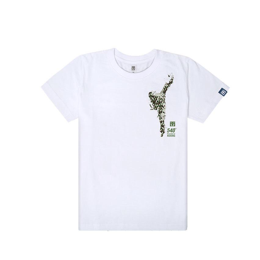 [무토]540발차기 면 티셔츠_화이트