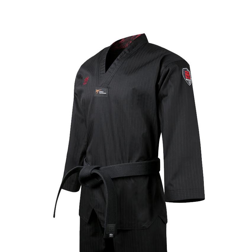 [무토] 베이직 4.5 컬러도복 블랙_검정깃(겨루기 단체복)
