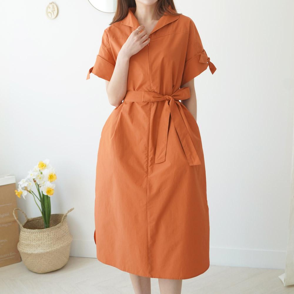 [DRESS]OPS3634K95-레트아일렛 롱 원피스