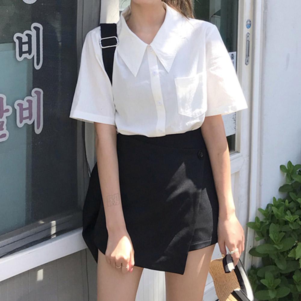 [TOP]리프린 코튼남방