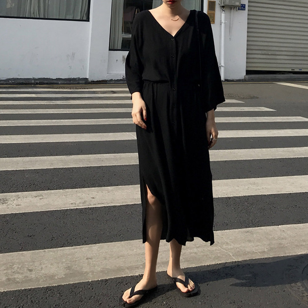[DRESS]헤이미 슬릿 롱원피스