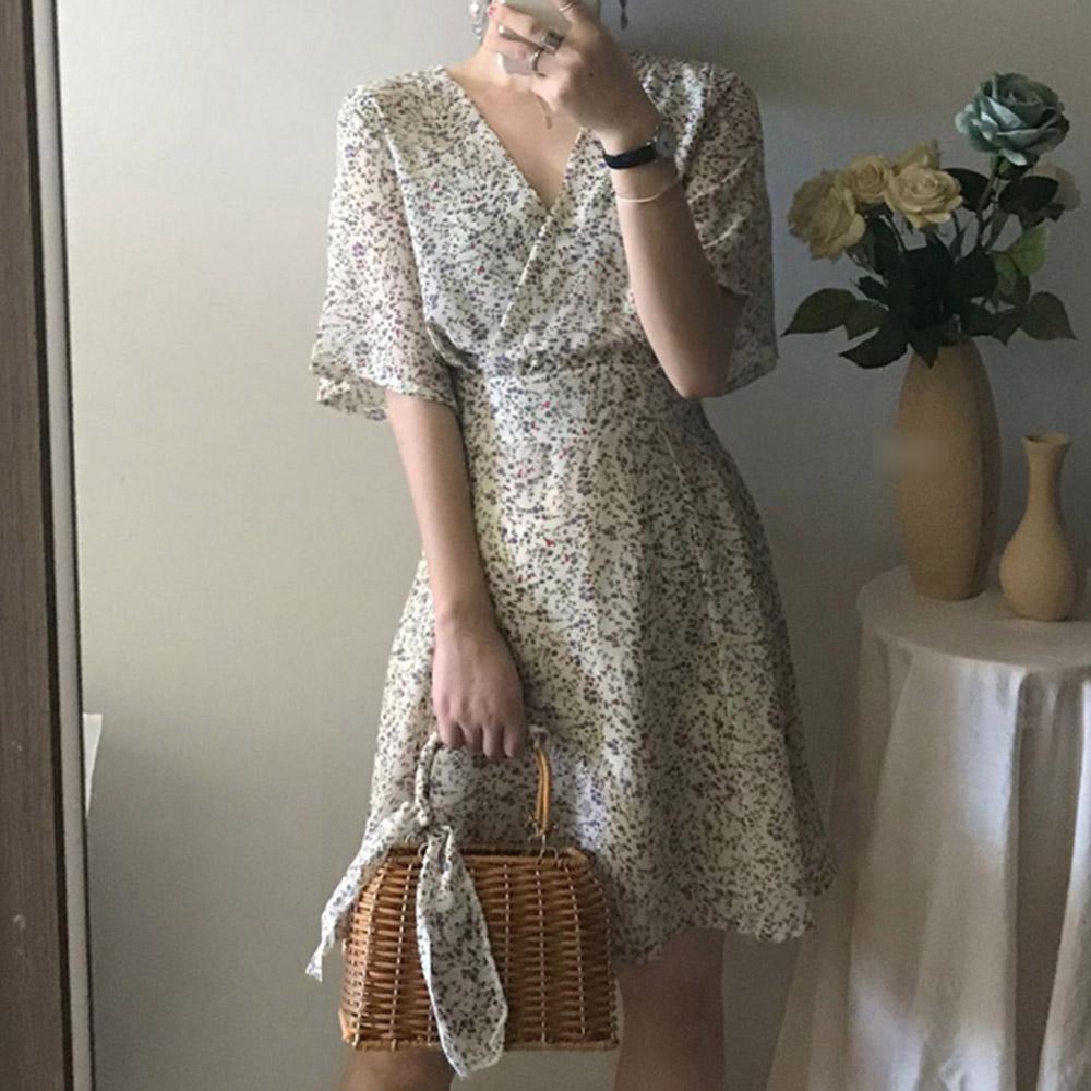 [DRESS]진달래 브이넥원피스