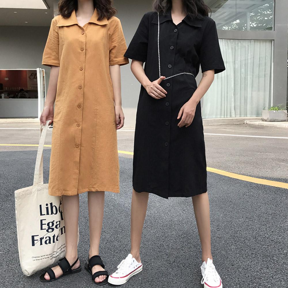 [DRESS]데이나잇 카라원피스