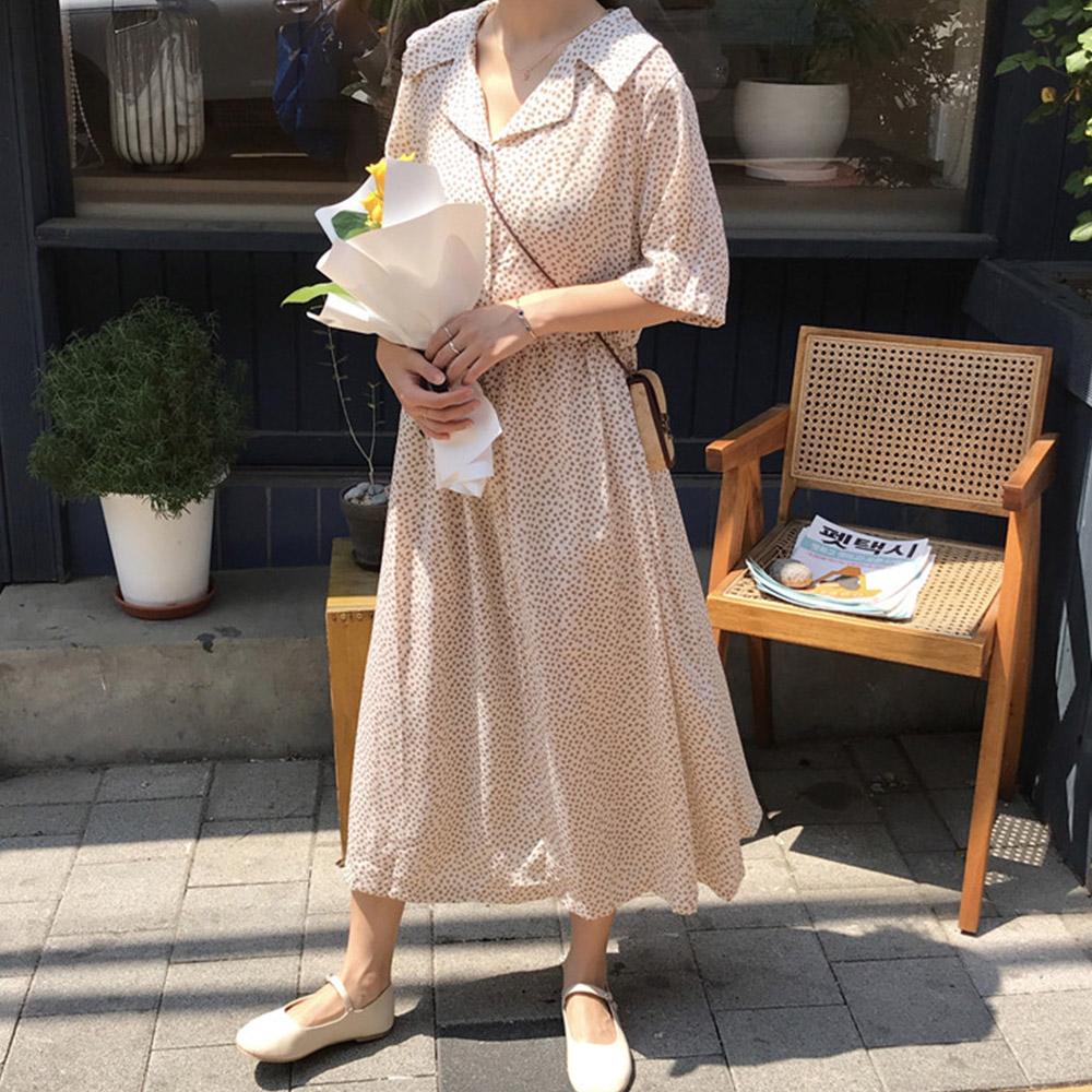 [DRESS]피크플라워 롱원피스