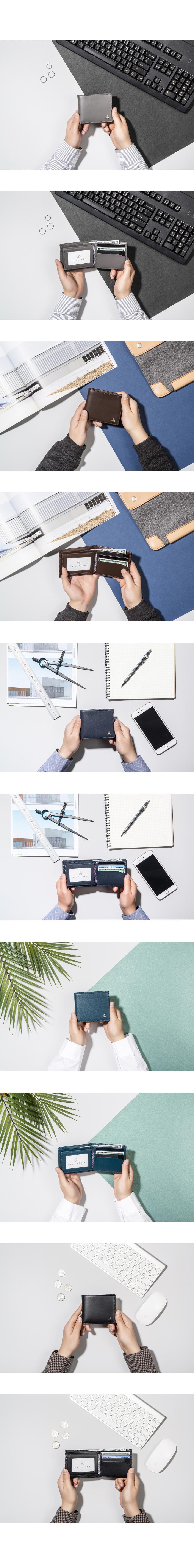 [코앤크릿] OBJECT 17WSM0201BK 심볼 스토리지 남성 반지갑 리얼블랙