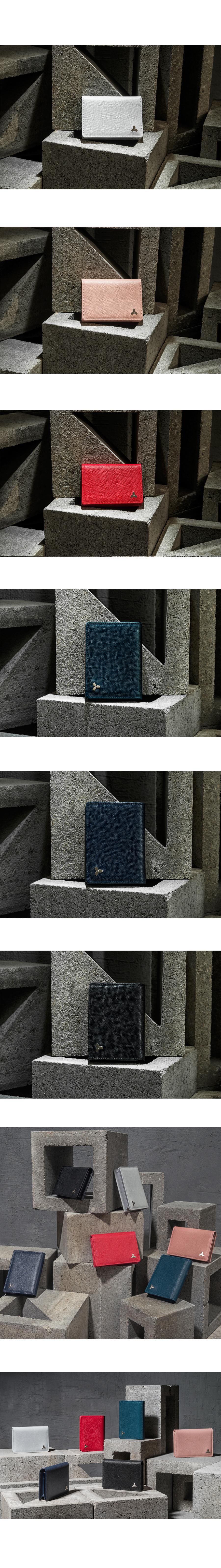 [코앤크릿] 18WTS0103C12DB 트리포드 카드 명함지갑 딥블루