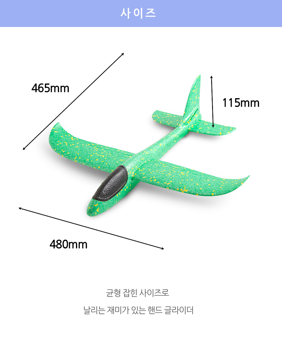 핸드 글라이더 - I can FLY with JESUS 사이즈 폭:48센티미터, 길이:46.5센티미터, 높이 11.5 센티미터