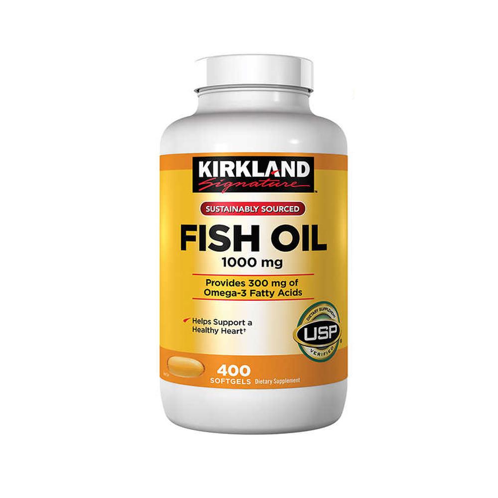 Kirkland 커클랜드 피쉬 오일 fish oil 1000mg 400정