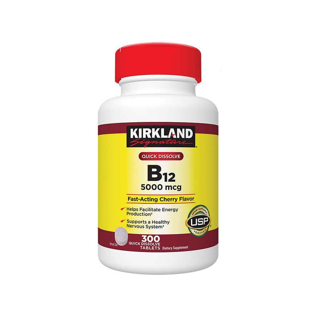 Kirkland 커클랜드 퀵 디졸브 비타민 B-12 5000mcg 300정
